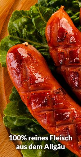 100% reines Fleisch aus dem Allgäu